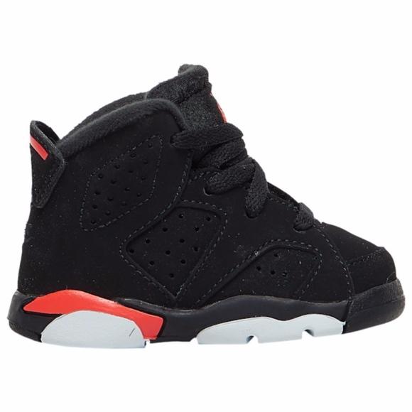Nike Other - Jordan Retro 6, Black/Infrared, Size 6C